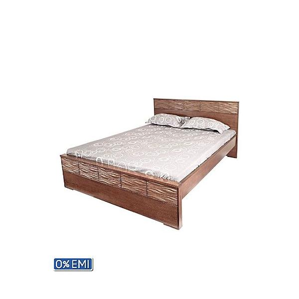 Allex Furniture Wood Double Bed AF-WD-B-06