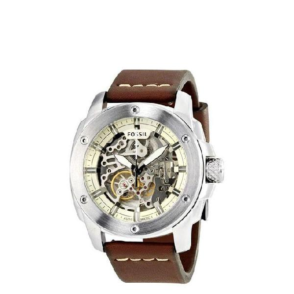 Fossil Leather Analogue Watch For Men ME3083