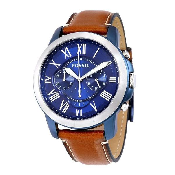 Fossil Leather Chronograph Watch For Men FS5151