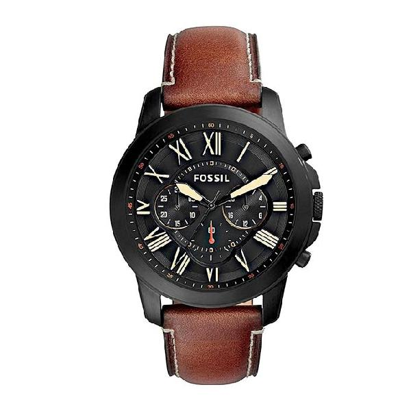 Fossil Leather Chronograph Watch For Men FS5335SET