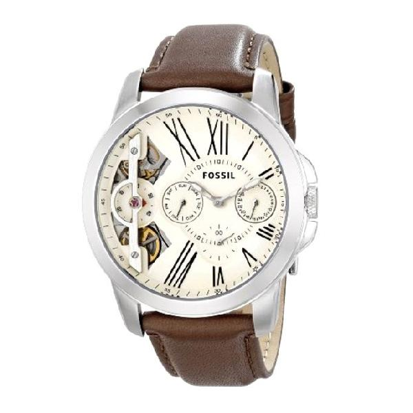 Fossil Leather Chronograph Watch For Men ME1144