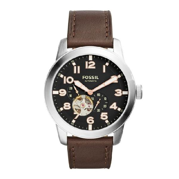 Fossil Leather Chronograph Watch for Men ME3118