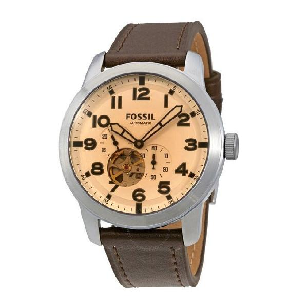 Fossil Leather Chronograph Watch for Men ME3119