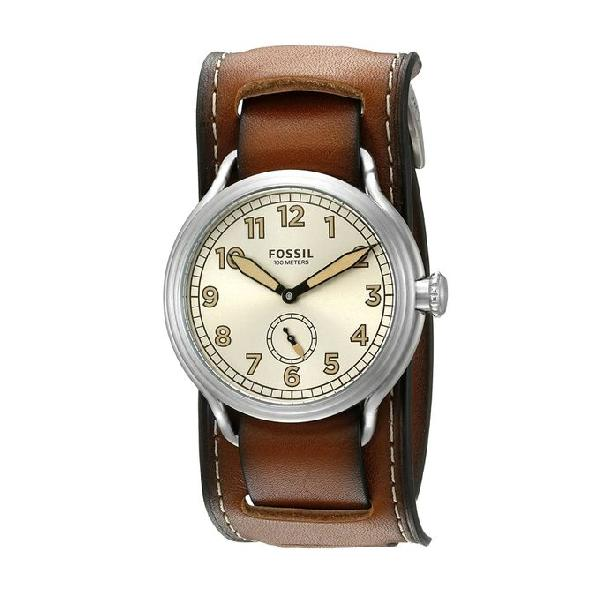 Fossil Leather Strap Analog Wrist Watch Set for Men LE1040SET