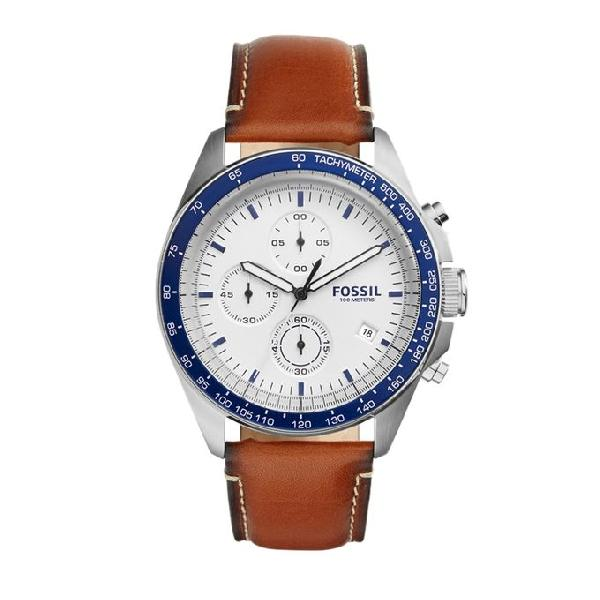 Fossil Sport 54 Leather Chronograph Watch for Men CH3029