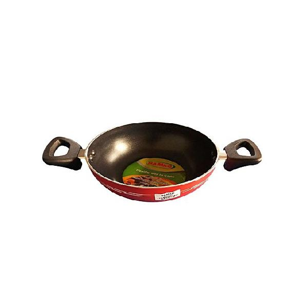 Hamko Red TH Wokpan with Glass Lid HA12-03