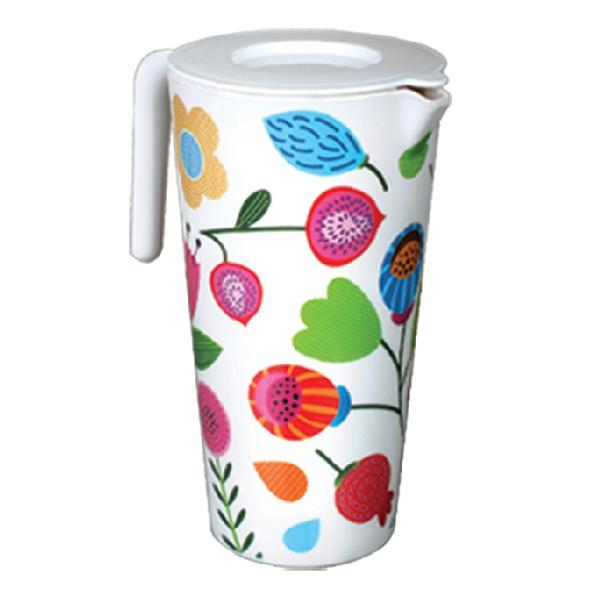 Italiano Lovely Smart Jug With Lid-Flowers-1.5ltr 921455