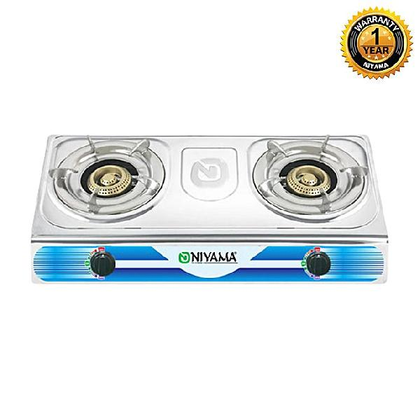 Niyama Double Burner Gas Stove LPG NGS-204
