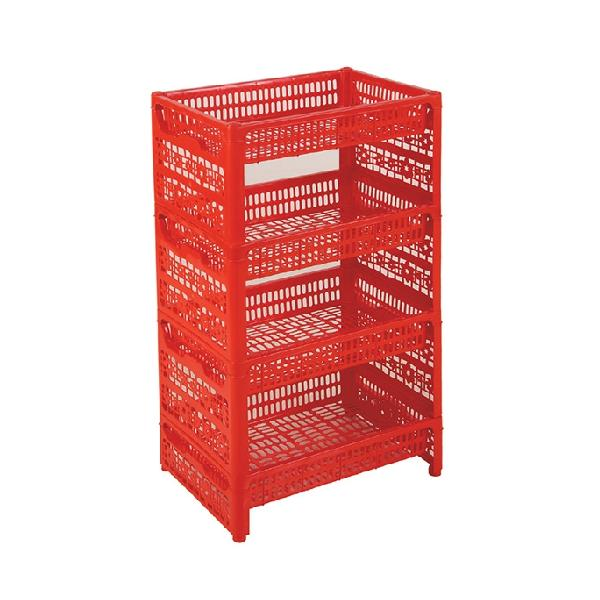 RFL 4 Step Crown Rack Red 86290