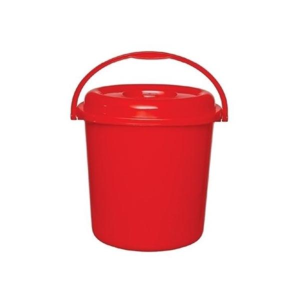 RFL Square Bucket with Lid 12Ltr Red 91186