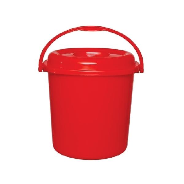 RFL Square Bucket with Lid 18Ltr Red 91190