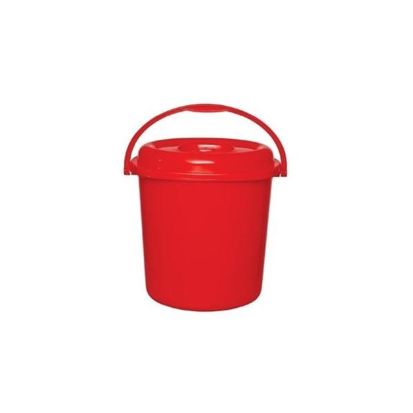 RFL Square Bucket with Lid 20Ltr Red 91192