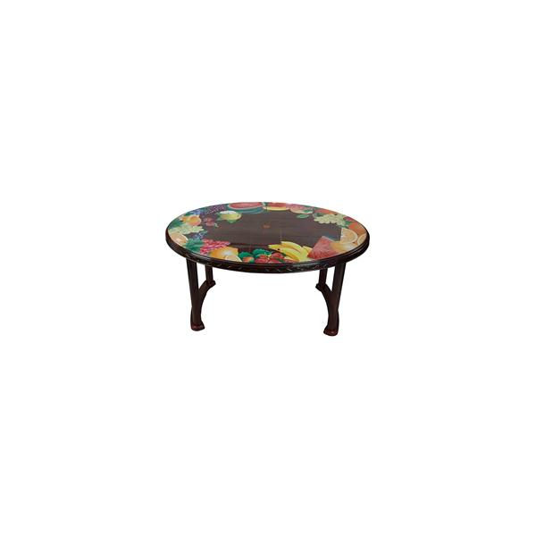 RFL Table 6 Seated Oval Plus Printed Rose Wood 86240