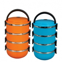 Bright SS Lunch Box 4 Pots 80549