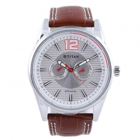 Fastrack Leather Analog Watch for Men 9322SL06
