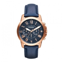 Fossil Leather Chronograph Watch for Men FS4853