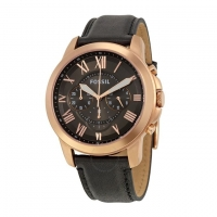 Fossil Leather Chronograph Watch for Men FS5085