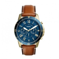 Fossil Leather Chronograph Watch For Men FS5268