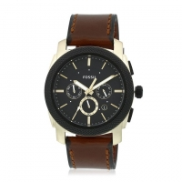 Fossil Leather Chronograph Watch For Men FS5322