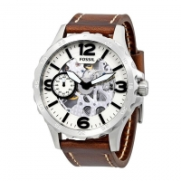 Fossil Leather Chronograph Watch For Men ME3128