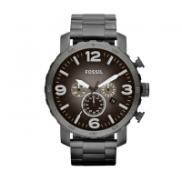 Fossil Stainless Steel Nate Chronograph for Men JR1437