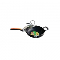 Hamko Black LH Super Deep Wokpan with CG Lid HA4-12