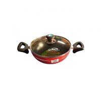 Hamko Red TH Wokpan with Glass Lid Black HA12-09