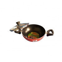 Hamko Red TH Wokpan with Glass Lid HA12-08