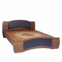 Hatim Furniture Laminated Board Double Bed HBDH-101-4-10
