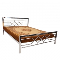 Hatim Furniture Pipe Double Bed HBDHS-203-4 SS
