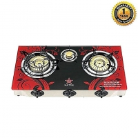 Hatim Glass Triple Burner NG Gas Stove 36 HGR