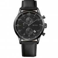 Hugo Boss Genuine Leather Chronograph Watch for Men 1512567