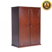 NADIA Furniture Solid Oak and Solid Mahogany 3 Shutter Moon Almirah NFL-C-0138-2