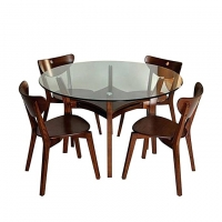 Nurjahan Furniture Canadian Processed Wood Dining Set with 4 Chair DI 81