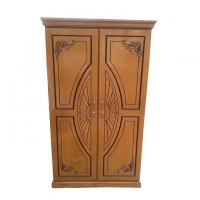 Nurjahan Furniture Oak Wood 2 Palla Almirah AA-09