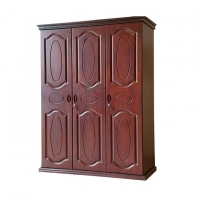 Nurjahan Furniture Oak Wood 3 Palla Almirah AA-03