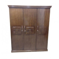 Nurjahan Furniture Oak Wood 3 Palla Almirah AA-15