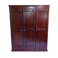 Nurjahan Furniture Oak Wood 3 Palla Almirah AA-30