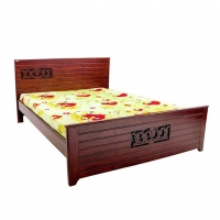 Nurjahan Furniture Oak Wood Semi-Box Bed BD-02