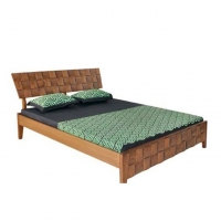Nurjahan Furniture Stylish Oak Wood Semi-box Bed BD-13