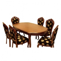 Nurjahan Furniture Victoria Dining With 6 Chair DI-32