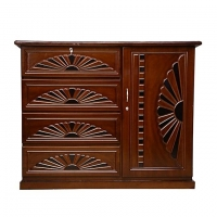 Nurjahan Furniture Wooden Wardrobe WD 22