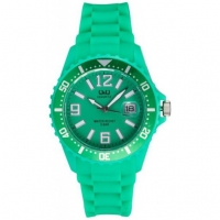 Q&Q Ladies Green Silicone Strap Watch A430J004Y
