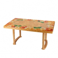 RFL  6 Seat Decorate Plus Table Classic Printed SW 82599