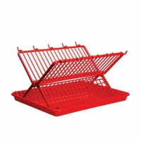 RFL Folding Dish Drainer Red 91531