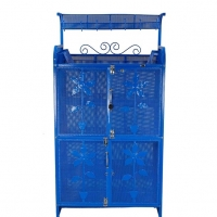 RFL Royal Kitchen Shelf 4 Door Blue 95051