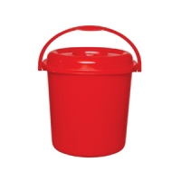 RFL Square Bucket with Lid 30Ltr Red 91198