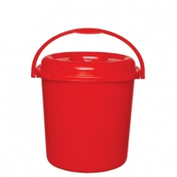 RFL Square Bucket with Lid 35Ltr Red 91200