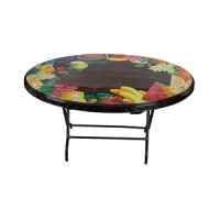 RFL Table 6 Seated Oval St/Leg Printed Rose Wood 86259