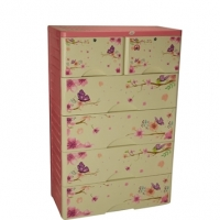 Royal Wardrobe Double 5 Drawers Knock Down Elegant Violet 838281